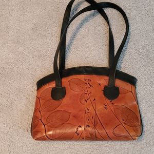 C.L. Whiting collection handtooled leather handbag